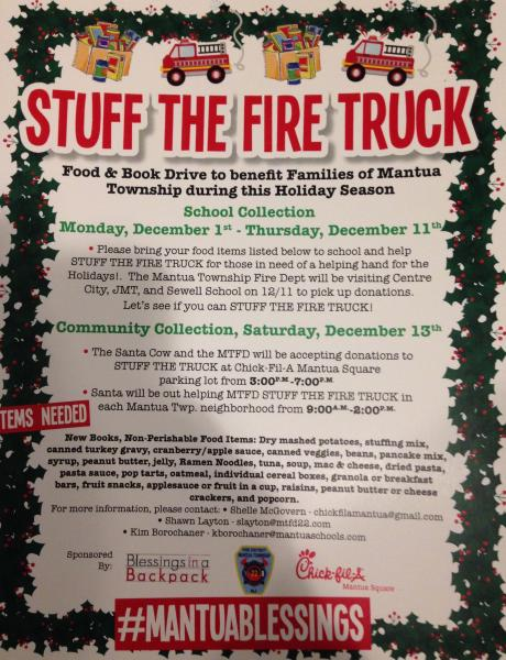 MTFD Supports Mantua Township Residents
