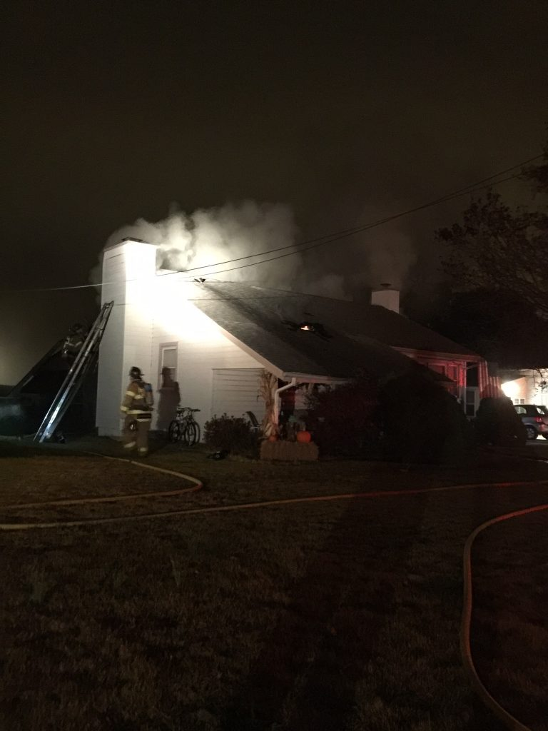 In House Duty Crew Makes Quick Work of Attic Fire