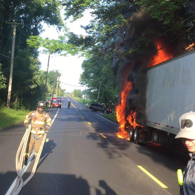 District Tackles Commercial Vehicle Fire