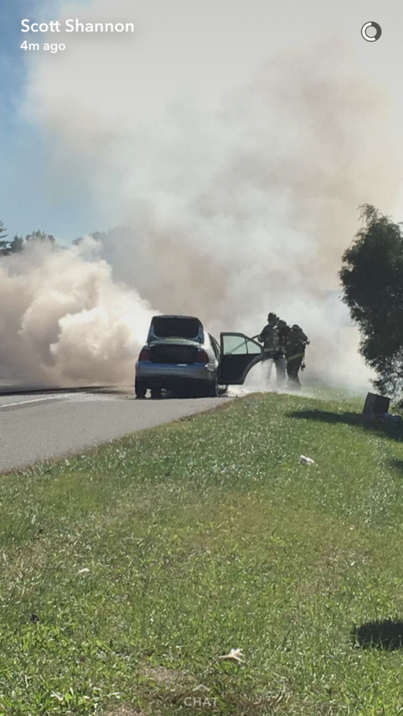 Company Makes Quick Work of Rt 55 Vehicle Fire