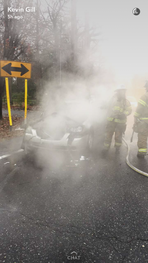 Crew Extinguishes Engine Compartment Fire