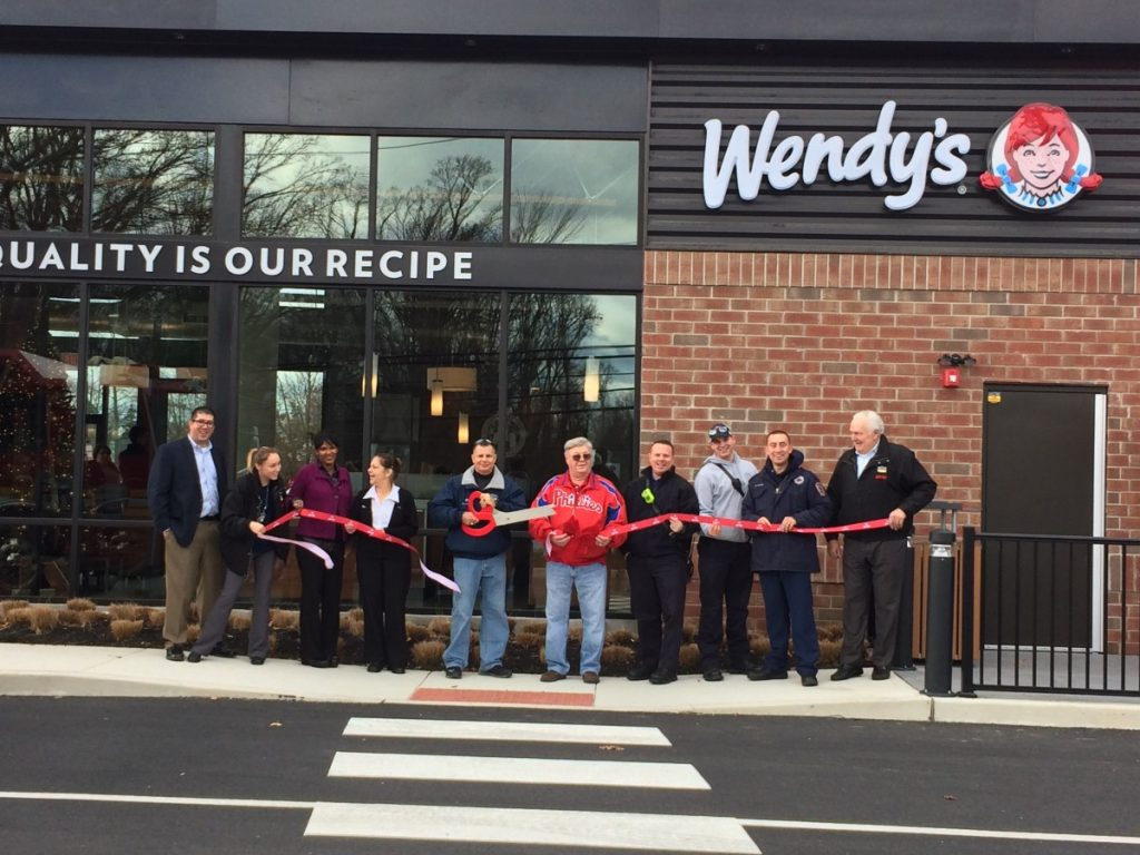Fire Department Involved in Wendy's Ribbon Cutting
