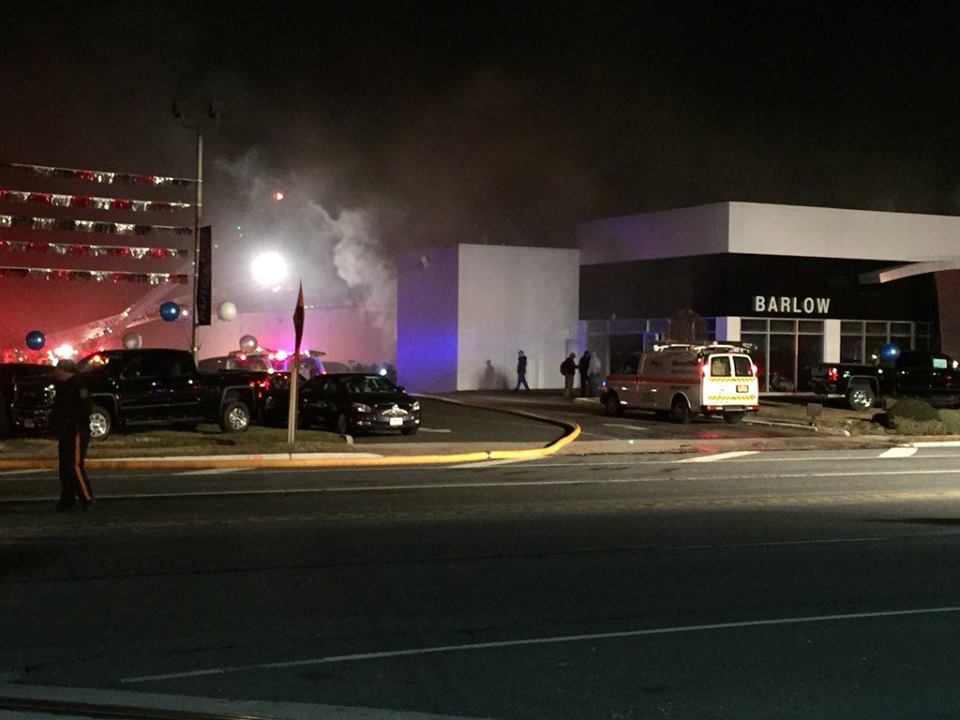 Company Responds on 3 Alarm Building Fire