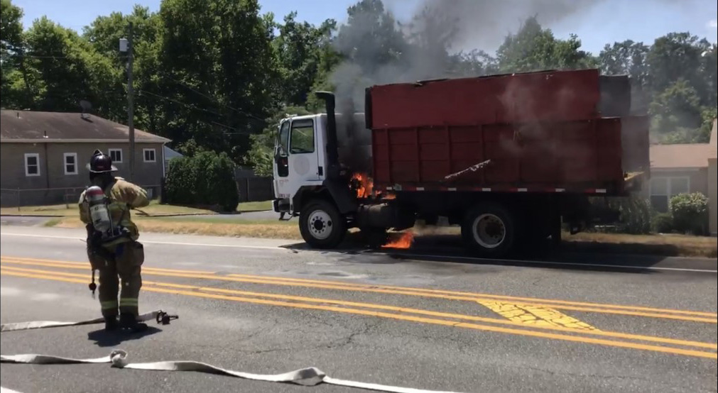 Crews extinguish Commercial Vehicle
