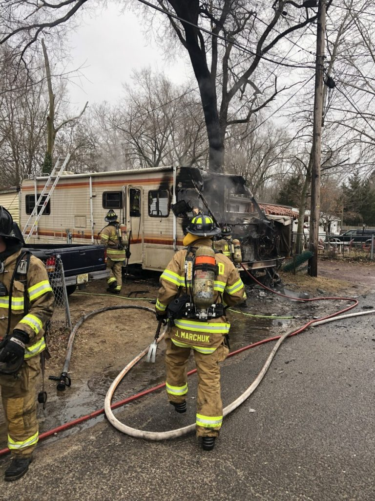 Company Extinguishes Active Camper Fire