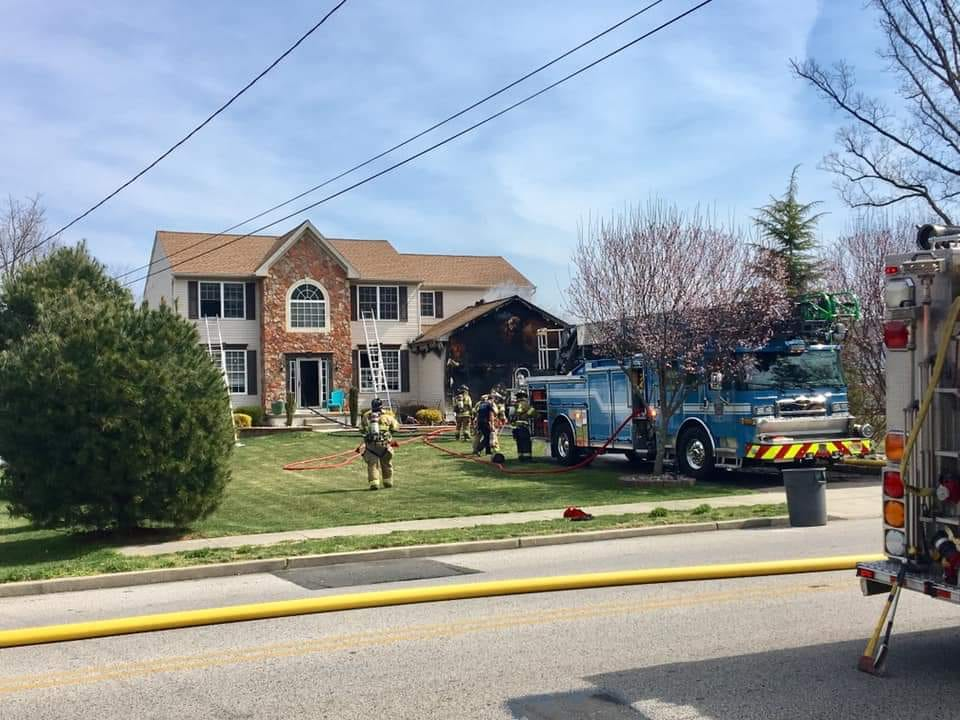 Squad Company Assists Washington Township with House on Fire