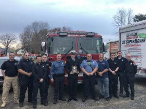 Lt  Thompson Awarded Firefighter of the Year